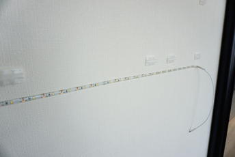 15mmのクリアランスに配線処理可能。